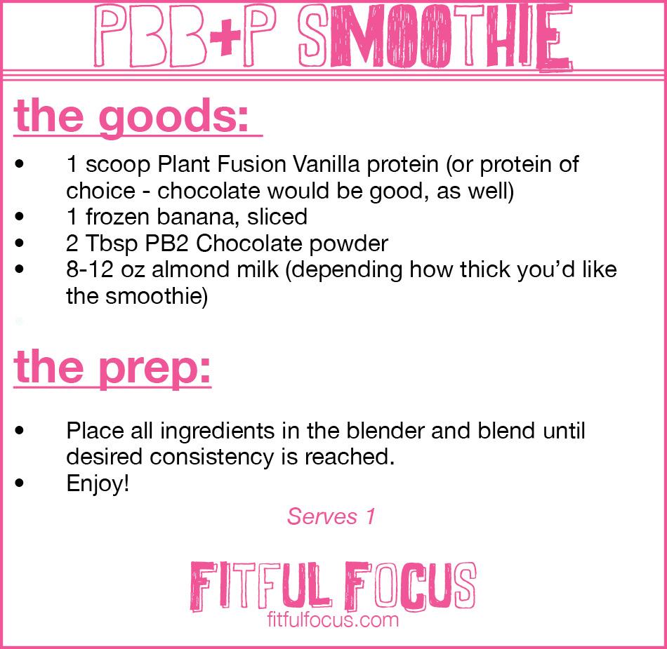 PBB+PSmoothie Via Fitful Focus