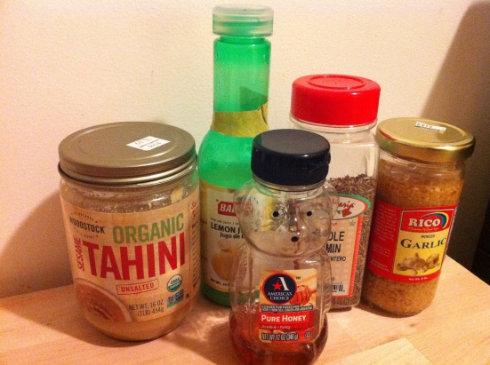 Tahini Sauce Ingredients via Fitful Focus