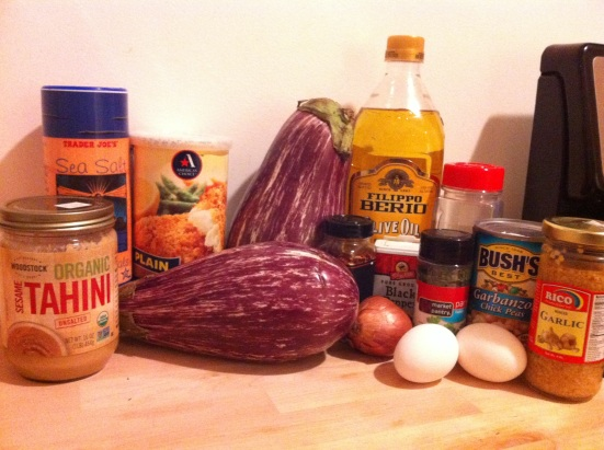 Falafel-Stuffed Eggplant Ingredients via Fitful Focus