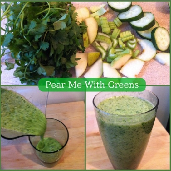 Pear Me With Greens via Fitful Focus