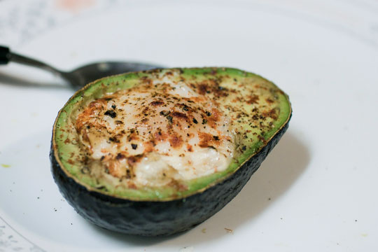 Egg baked in avocado from thekitchn