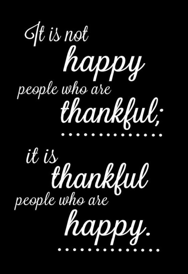 thankful people are happy people via Fitful Focus