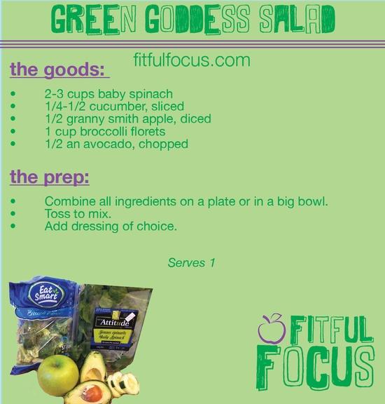 Green Goddess Salad via Fitful Focus