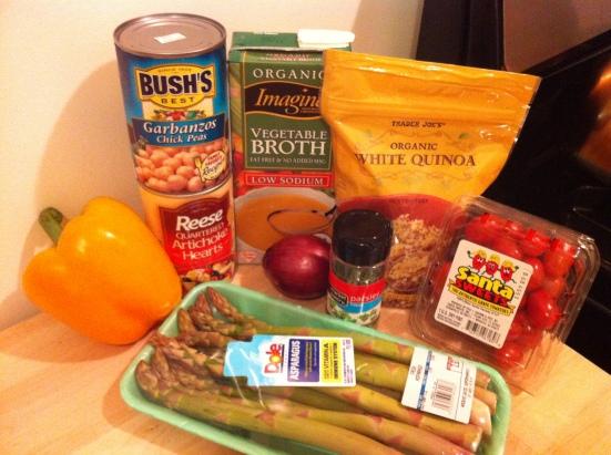 Pesto Quinoa Salad Ingredients