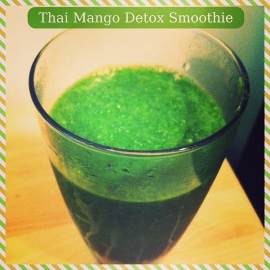 Thai Mango Detox Smoothie via Fitful Focus