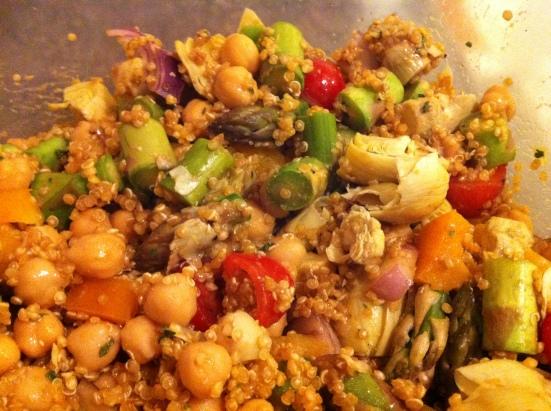 Pesto Quinoa Salad via Fitful Focus