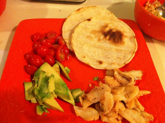 Fish Tacos via Fitful Focus