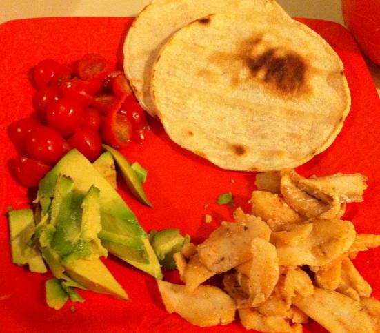 Fish Tacos via Fitful Focus