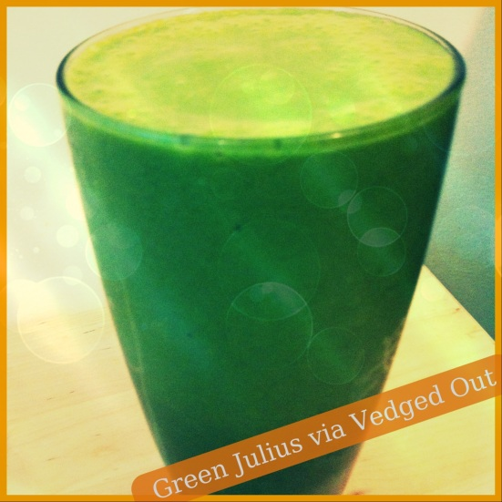 Green Julius Smoothie via Fitful Focus & Vedged Out