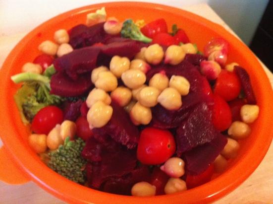 Green Smoothie Challenge Salad via Fitful Focus