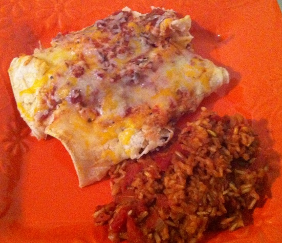 Very Veggie Enchiladas and Light Spanish Rice via Fitful Focus