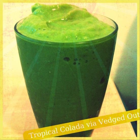Tropical Colada Smoothie via Fitful Focus & Vedged Out