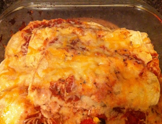 Very Veggie Enchiladas via Fitful Focus