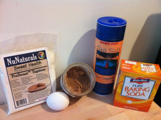 Almond Butter Cookie Ingredients via Fitful Focus