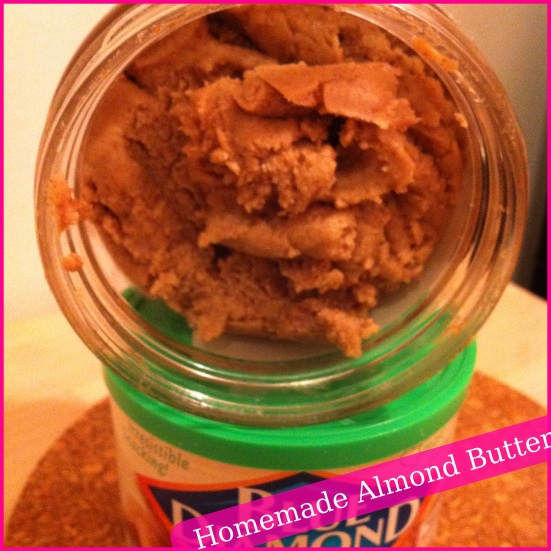 Homemade Almond Butter via Fitful Focus