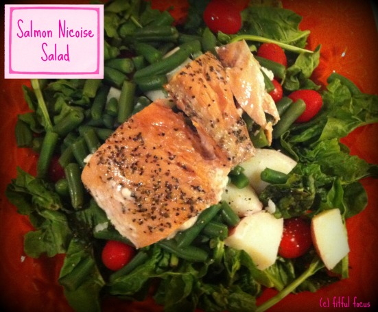 Salmon Nicoise Salad via Fitful Focus