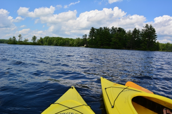 Kayaking via Fitful Focus