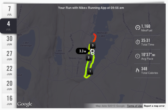 July 4th Run via Fitful Focus