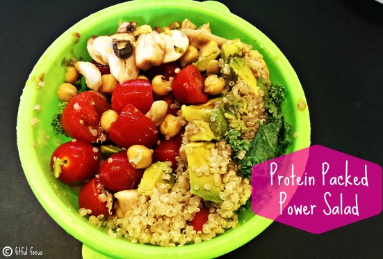 Protein Packed Power Salad via Fitful Focus