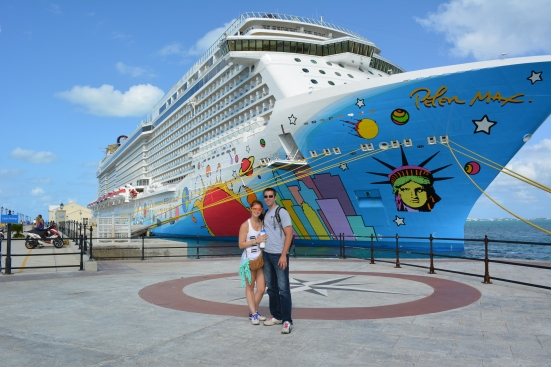 Me and the boyfriend in front of our ship!