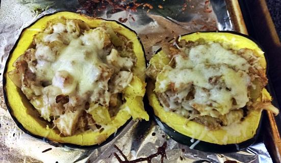 Savory Quinoa-Apple Stuffed Squash via Fitful Focus