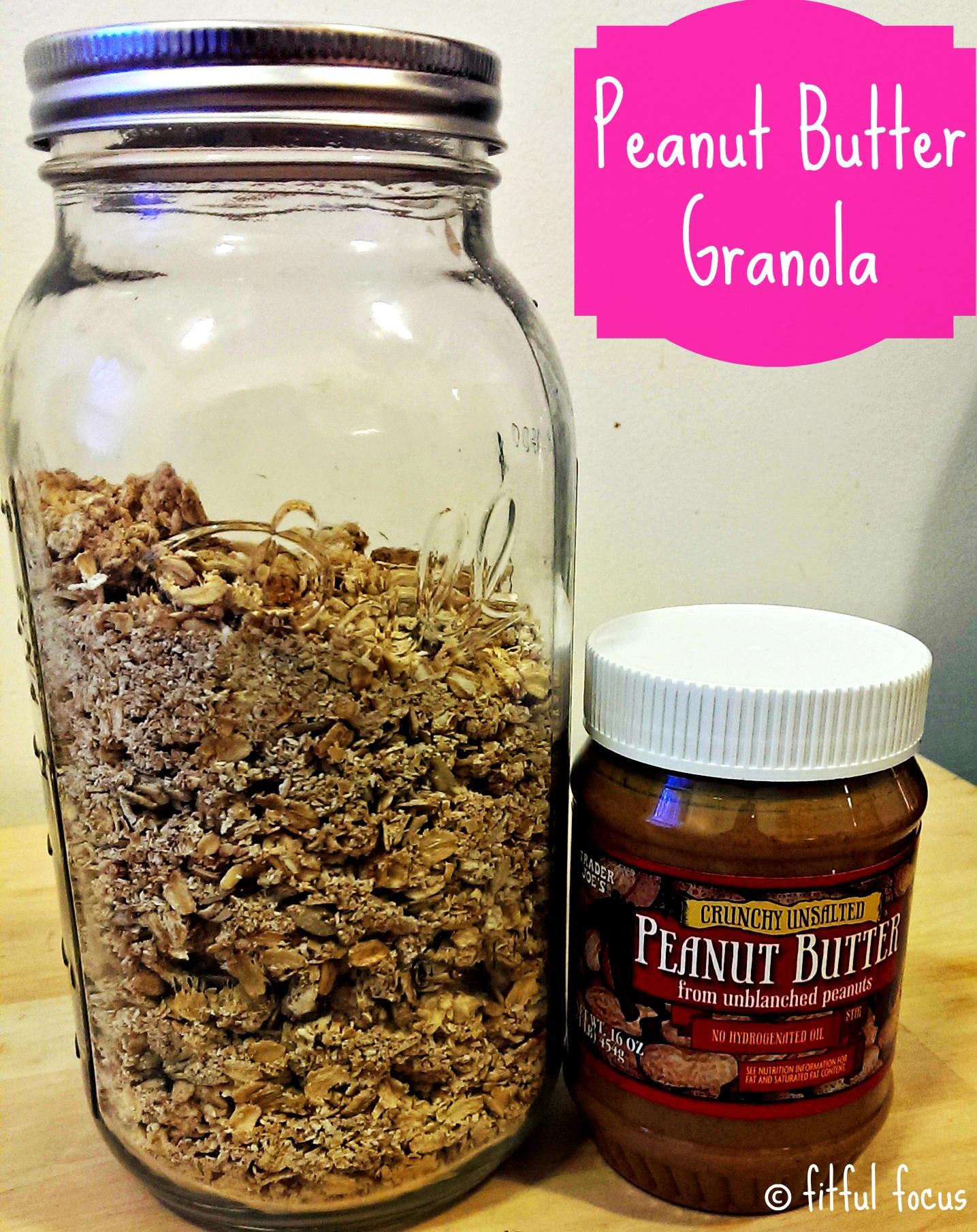 Peanut Butter Granola via Fitful Focus2