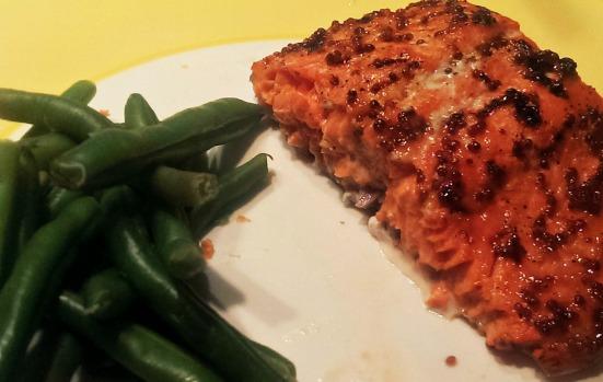 Maple Dijon Glazed Salmon 2 via Fitful Focus