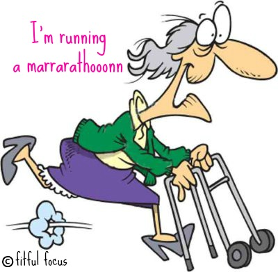 old lady running via fitful focus