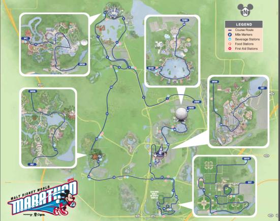 Walt Disney World Marathon Course Map